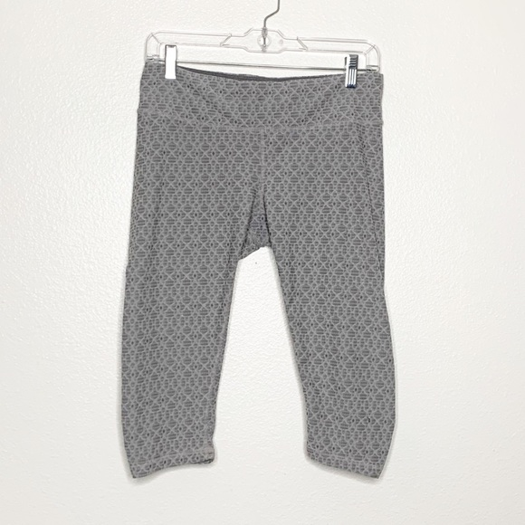 PRANA Gray Cropped Athletic Legging Pants Medium